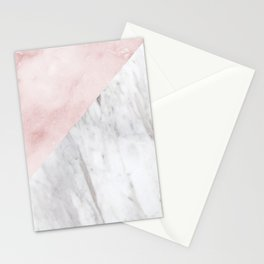Marchionne Bianco & Silvec Rosa marble soft pink Stationery Cards