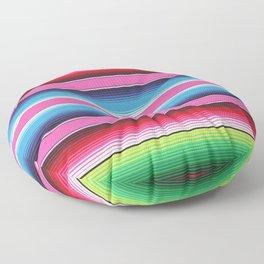 Pink Green Blue Mexican Serape Blanket Stripes Floor Pillow
