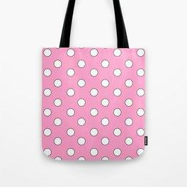 Pink Pastel Polka Dots Tote Bag