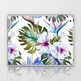 Watercolor Tropical Hibiscus Laptop & iPad Skin