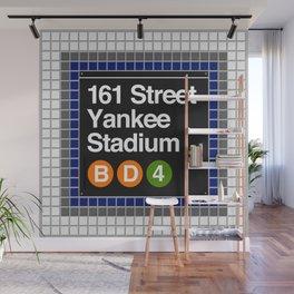 subway yankee stadium sign Wall Mural