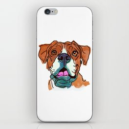 The Boxer cutie keeps you happy! iPhone Skin