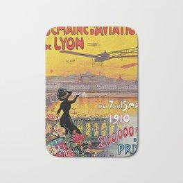 1910 Aviation week Lyon France Bath Mat