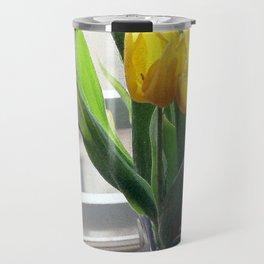 View through Yellow Tulips Travel Mug