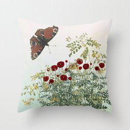'Serenity only a deliberate hebitude' Throw Pillow