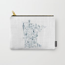 Minnesota Up North Collage Carry-All Pouch