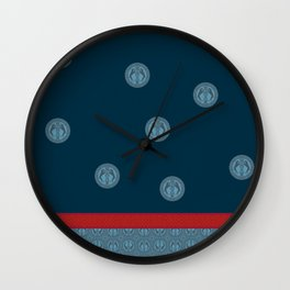 MEDIEVAL WEIMARANER WITH RED STRIPE Wall Clock