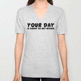 Your Day Unisex V-Neck