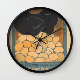 Vintage poster - I am a Fine War Hen Wall Clock