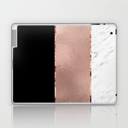Rose metallic striping - marble and onyx Laptop & iPad Skin