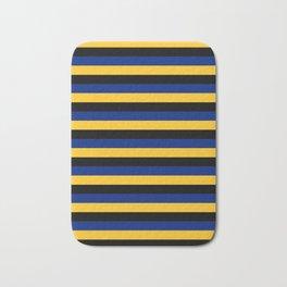 Barbados flag stripes Bath Mat