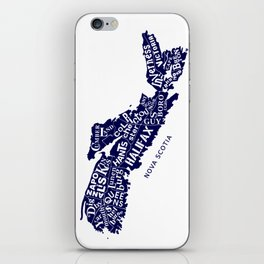 Nova Scotia Map iPhone Skin