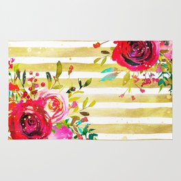 Flowers & Stripes 2 Rug
