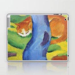 """Franz Marc """"Children's Picture: Cat behind a Tree (Kinderbild: Katze hinter einem Baum)"""" Laptop & iPad Skin"""
