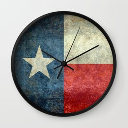 State flag of Texas, Lone Star Flag of the Lone Star State Wall Clock