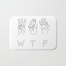 What the fuck sign Bath Mat