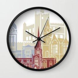 Chesterfield UK skyline poster Wall Clock