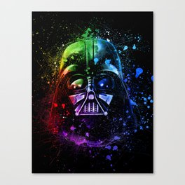 Darth Vader Helmet StarWars Art - Digital Splash Painting Canvas Print