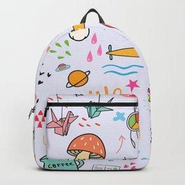 Doodle Tattoo Pop Art - unicorn, space, boho doodles Backpack