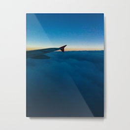 Cotton and Wing Metal Print