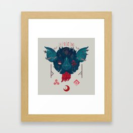Runic Bat Framed Art Print
