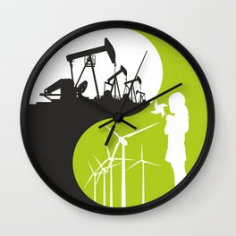 yin and yang - male and female principles Wall Clock