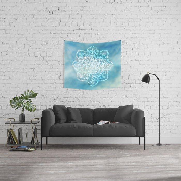 Blue Sky Mandala Wall Tapestry