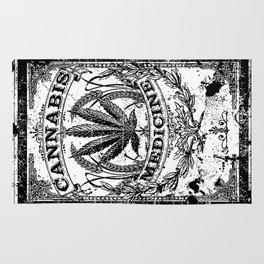 Cannabis Medicine - Old Retro Label-Medical marijuana-Pop Culture Rug
