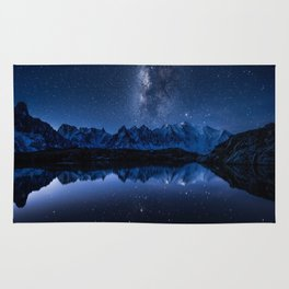 Night mountains Rug