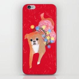 Dog in Pink Flower Dress iPhone Skin