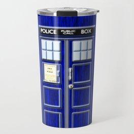 Tardis Art Blue Phone Both Travel Mug