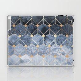 Blue Hexagons And Diamonds Laptop & iPad Skin