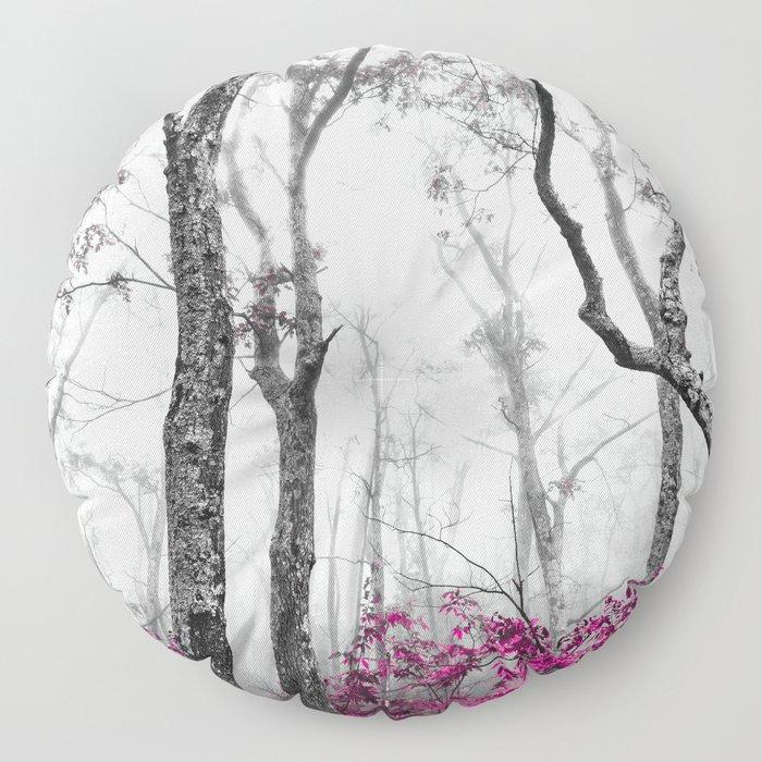 Princess Pink Forest Garden Floor Pillow