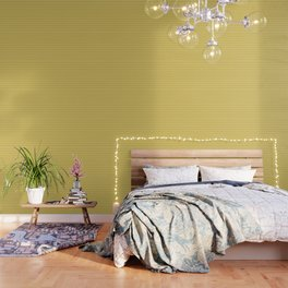 Faux Golden Leather Buttoned Wallpaper