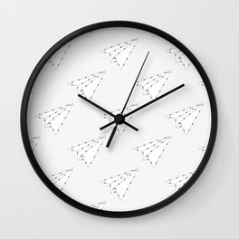 Origami Plane  Wall Clock