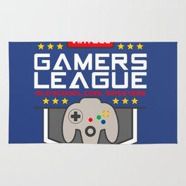 Geeky Gamer Chic Classic Vintage Gaming N64 Inspired Vintage Gamer League Old School Cool Rug