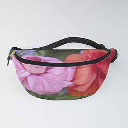 Ranunculus with water drops Fanny Pack