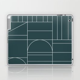 Deco Geometric 04 Teal Laptop & iPad Skin