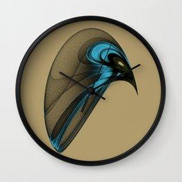 Fractal Bird with Sharp Beak Wall Clock