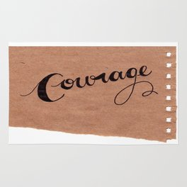 Simple Courage Rug