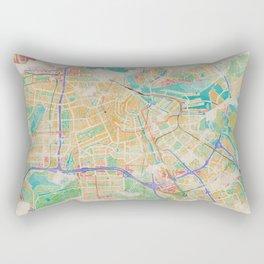 Amsterdam in Watercolor Rectangular Pillow