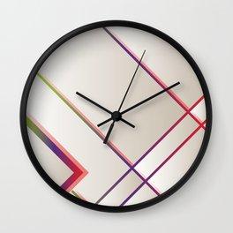 Rainbow Grids Wall Clock