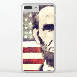 Patriot President Abraham Lincoln Clear iPhone Case