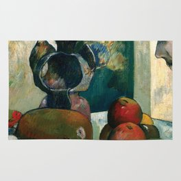Still Life with Profile of Laval by Paul Gauguin Rug