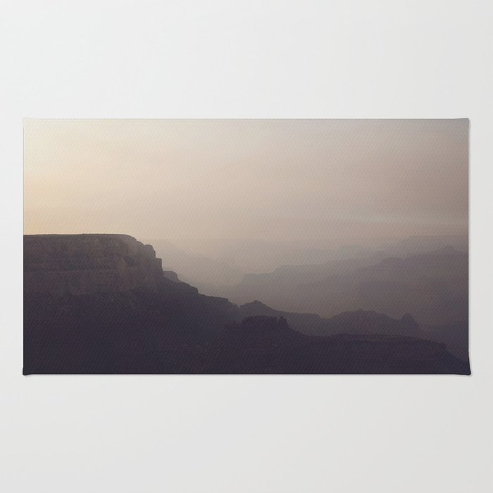 Smoky Hazy Sunset in the Grand Canyon Rug
