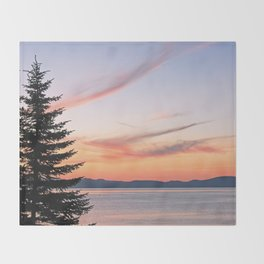 Tahoe Sunset Throw Blanket