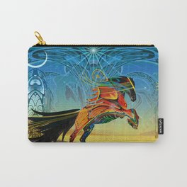 The Wind of Time (Red Horse) Carry-All Pouch