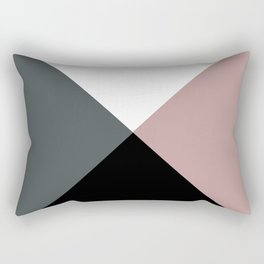 Modern dusty pink gray black white geometrical Rectangular Pillow