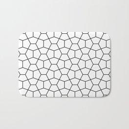 Moroccan Diamonds B&W Bath Mat