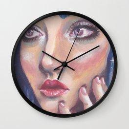 Blue Gaze Wall Clock